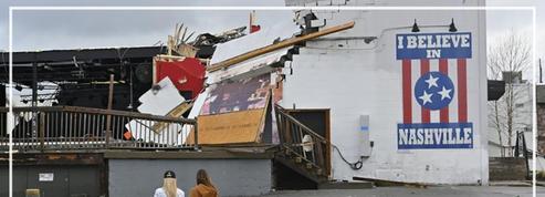 Tornades dans le Tennessee: les dégâts spectaculaires à Nashville vus du ciel