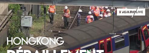 Hongkong : un train de banlieue déraille et fait plusieurs blessés