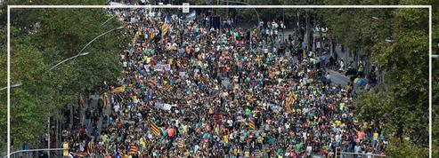Catalogne : une marée humaine déferle dans les rues de Barcelone