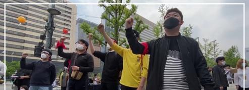 Manifestations à travers le monde pour le 1er mai en dépit des mesures restrictives