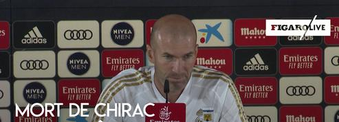 Zidane rend hommage à Jacques Chirac : «C'était le président de tous les sportifs»