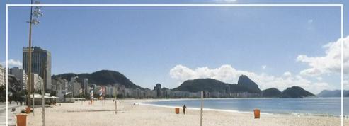 Coronavirus: au Brésil, la plage de Copacabana déserte