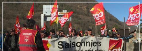 Les saisonniers des stations de ski mobilisés contre la réforme de l'assurance chômage