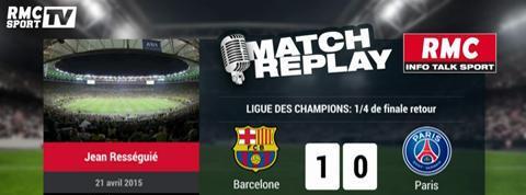 Barcelone - PSG (2-0) : le Match Replay avec le son de RMC Sport