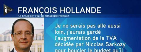 Le mea culpa de François Hollande sur la TVA sociale