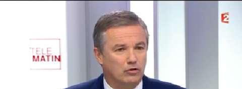 Nicolas Dupont-Aignan critique «l'excès» de Marine Le Pen
