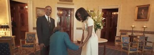Une Américaine de 106 ans danse de joie avec le couple Obama