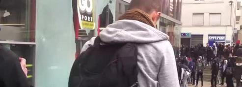 Des casseurs s'attaquent à un magasin pendant les manifestations contre la loi Travail à Nantes