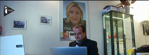 David Rachline, le jeune directeur de campagne de Marine Le Pen