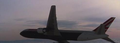 Le trajet d'un avion détourné par crainte d'actes terroristes
