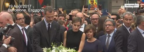 Barcelone : le couple royal se rend sur Las Ramblas