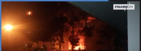 Israël : Les images amateurs d'un immeuble touché par une roquette