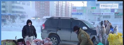 Iakoutsk, ville russe où le marché se tient même par -50°c