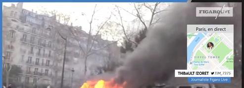 «Gilets jaunes» Acte XIII : un véhicule «Sentinelle» incendié à Paris
