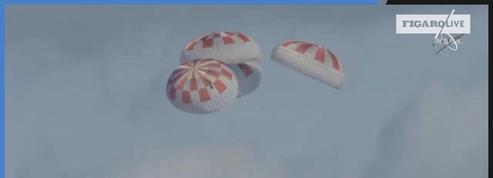 Space X : la capsule Dragon a amerri dans l'océan Atlantique