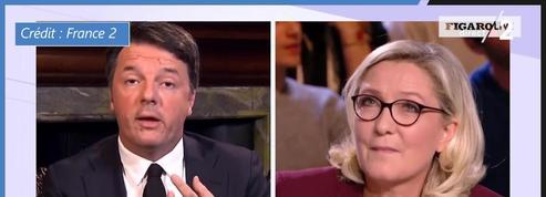 Matteo Renzi à Marine Le Pen : «J'ai perdu une fois, vous avez toujours perdu»