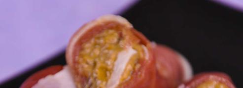 Roulé de jambon au caviar d'aubergines
