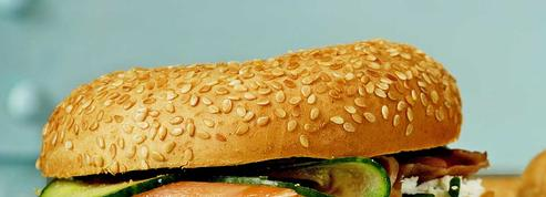 Bagels au saumon et concombre