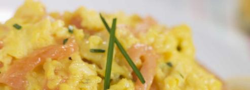 Brouillade d'œufs au saumon fumé