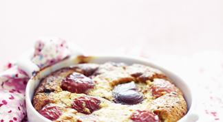Ice-cake poire-chocolat et gelée de framboise