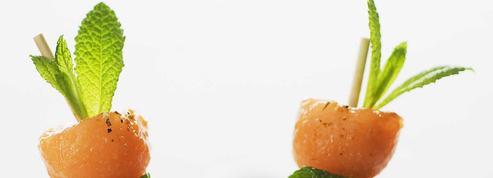 Brochettes d'agneau à la menthe et au melon