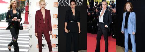 Emma Watson, Kristen Stewart, Isabelle Huppert... Comment les célébrités s'approprient le tailleur pantalon ?