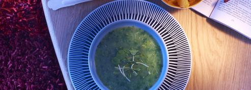 Soupe froide de légumes verts