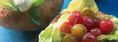 Petits pains fourrés façon salade à l'italienne