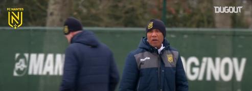 FC Nantes : la première séance d'entraînement d'Antoine Kombouaré