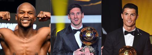 Mayweather, Ronaldo, Messi : le top 10 des athlètes les mieux payés de la décennie