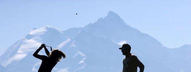 Crans-sur-Sierre golf club, de très haute altitude