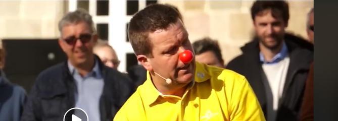 Geoffroy Auvray, un clown golfeur qui fait le show