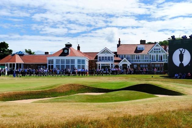 Le mythique Club House de Muirfield accueille ce 142e British Open de l'Histoire. (F.Froger / D4)