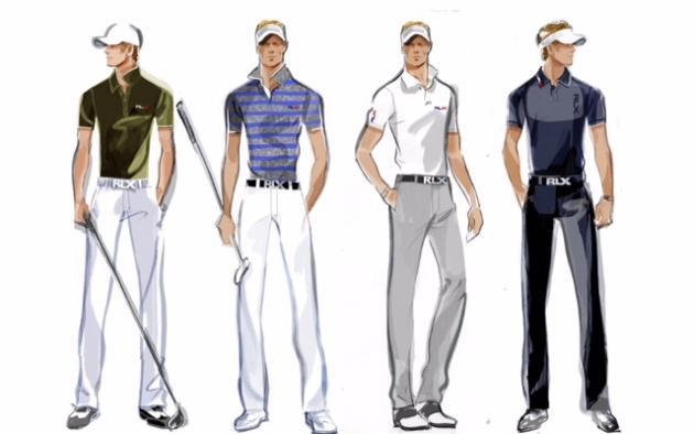 L'anglais Luke Donald restera très classique avec un total look bleu marine ou encore un pantalon blanc assorti à une chemisette verte (Ralph Lauren).