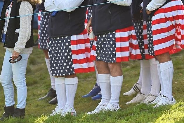 Quand les supporters américains portent le kilt écossais.