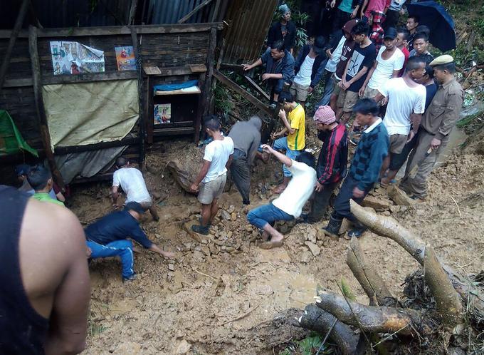 Glissement de terrain dans le Manipur