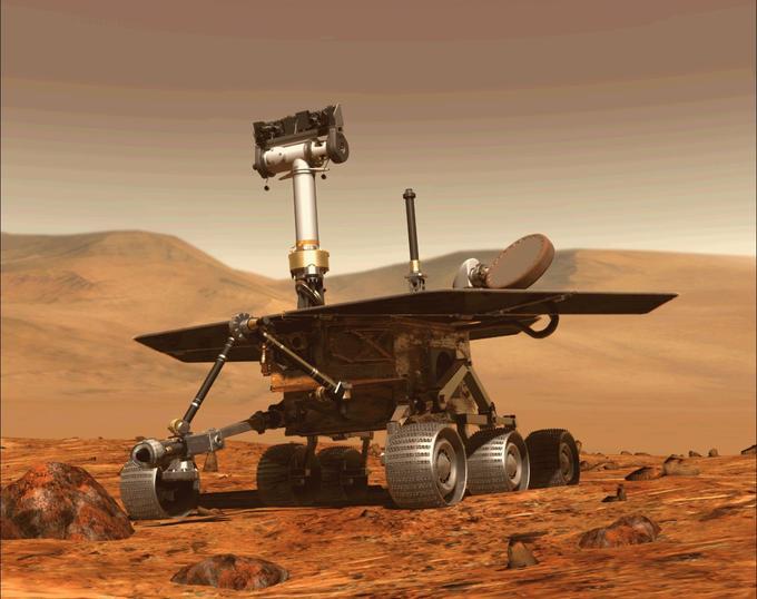 Le robot Opportunity, sur mars, le 31 août 2018.