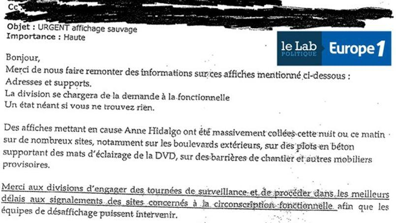 Un des courriels en question. Capture d'écran du Lab d'Europe 1.