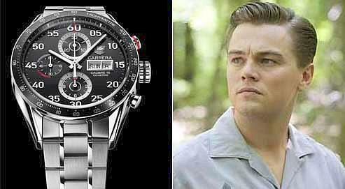 Leonardo DiCaprio , nouvel ambassadeur de TAG Heuer, portera la Carrera Day-Date.