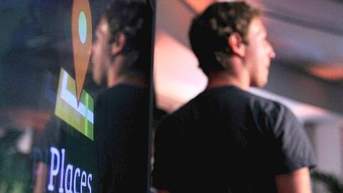 Mark Zuckerberg lors du lancement de «Facebook Places» aux États-Unis, en août.