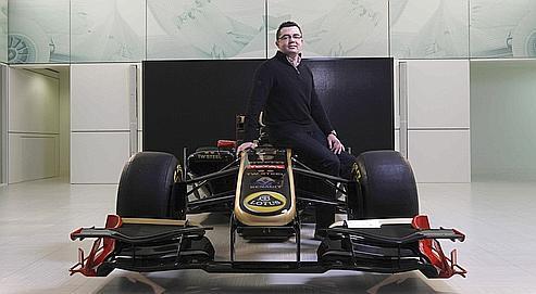 Éric Boullier, patron de Lotus Renault, dont la nouvelle monoplace sera officiellement présentée dans six jours.