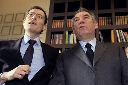François Bayrou lundi à Vincennes, avec le maire (NC) Laurent Lafon.