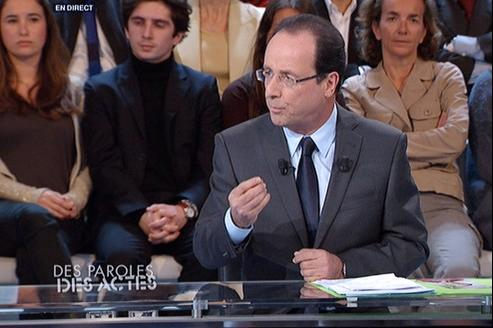 François Hollande, sur France 2.