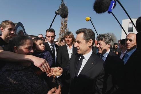 Nicolas Sarkozy, ce vendredi, à Valenciennes.