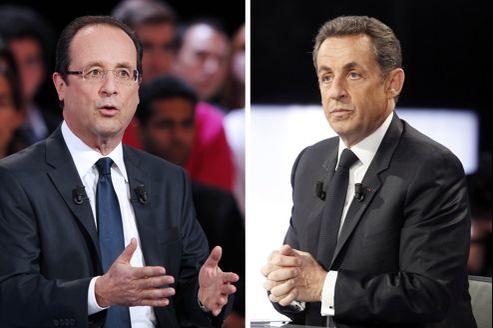 François Hollande arrive en tête devant Nicolas Sarkozy au premier tour.