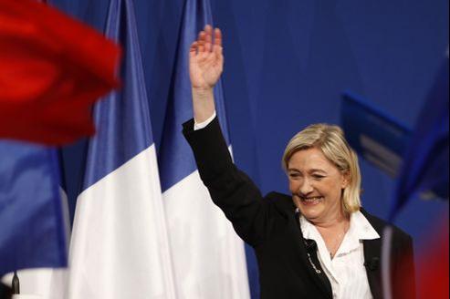 Marine Le Pen dimanche soir après l'annonce des résultats du premier tour de la présidentielle.