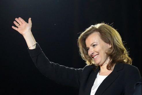 Valérie Trierweiler à la Bastille, dimanche.
