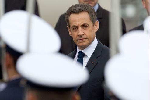 Nicolas Sarkozy aux cérémonies du 8 mai.
