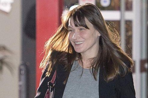Carla Bruni-Sarkozy le 3 mai dernier.