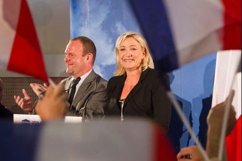 Marine Le Pen à Hénin-Beaumont, dimanche 10 juin 2012